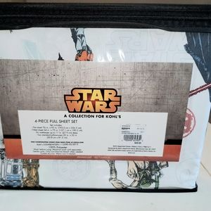 Kohl's Other - Star wars sheets full new